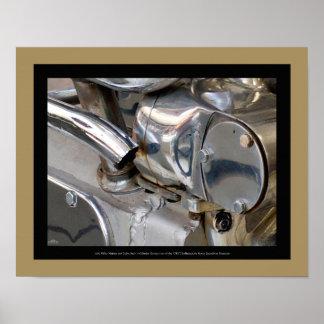 1930 Miller Marine Engine - detail 2 Poster