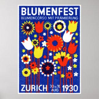 1930 Swiss Flower Show Poster