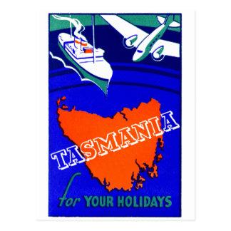 1930 Tasmania Travel Poster Postcard