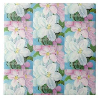 1930 Vintage Apple Blossoms Georgia O'Keefe Tile