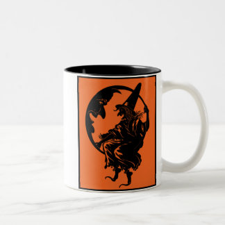 1930s Art Deco Witch and Moon Mug