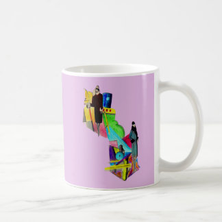 1930s art deco women print coffee mug
