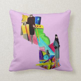 1930s art deco women print cushion