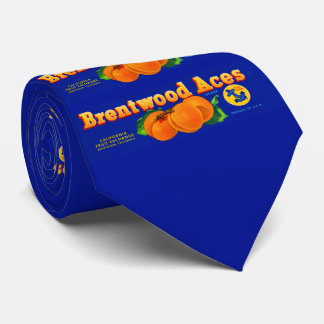 1930s Brentwood Aces apricots crate label print Tie