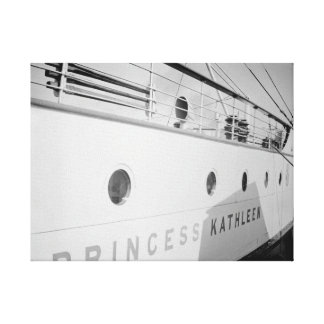1930's Canadian Pacific Princess Kathleen Ship Canvas Print