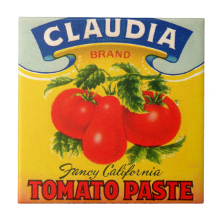 1930s Claudia tomato paste label Tile