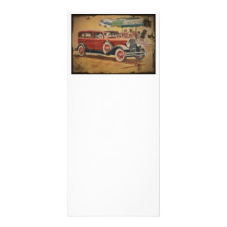 1930s Club Sedan at a Beach Party Personalized Rack Card
