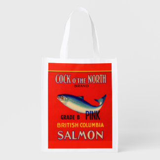 1930s Cock o' the North salmon can label