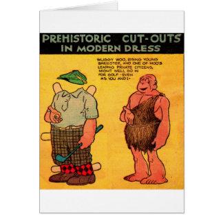 1930s comic strip caveman paper doll Wuggie Woo Greeting Card