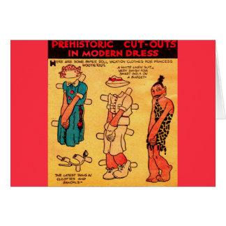 1930s comic strip paper doll Princess Wootietoot Card