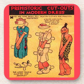 1930s comic strip paper doll Princess Wootietoot Coaster