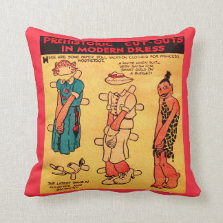 1930s comic strip paper doll Princess Wootietoot Cushion