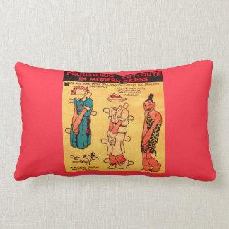 1930s comic strip paper doll Princess Wootietoot Lumbar Cushion