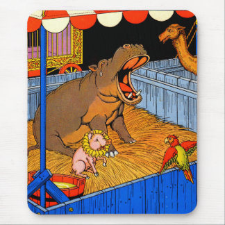 1930s crying hippopotamus and friends mouse pad