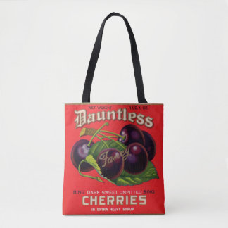 1930s Dauntless Cherries in Heavy Syrup can label Tote Bag