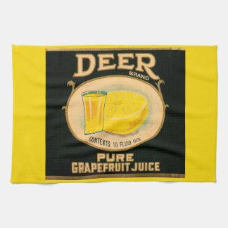 1930s Deer Brand Grapefruit Juice label Tea Towel