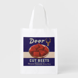 1930s Deer Cut Beets can label
