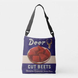 1930s Deer Cut Beets can label Crossbody Bag