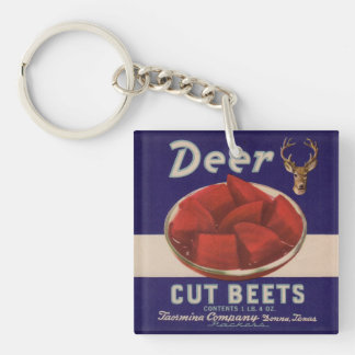 1930s Deer Cut Beets can label Key Ring