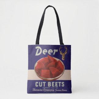 1930s Deer Cut Beets can label Tote Bag