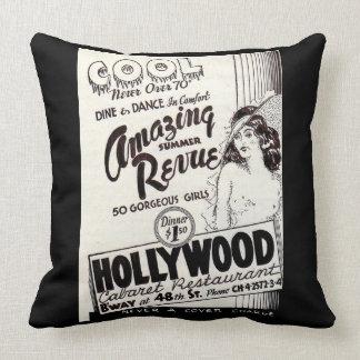 1930s Hollywood Cabaret Restaurant ad Cushion