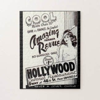 1930s Hollywood Cabaret Restaurant ad Jigsaw Puzzle