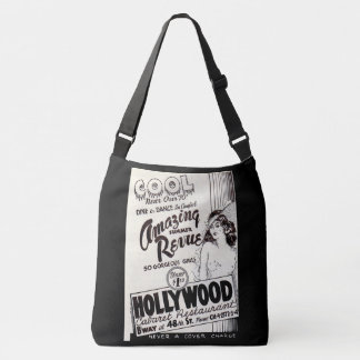1930s Hollywood Cabaret Restaurant ad print Crossbody Bag