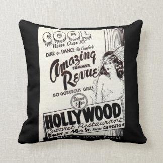 1930s Hollywood Cabaret Restaurant ad print Cushion