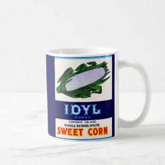 1930s Idyl Sweet Corn label Coffee Mug