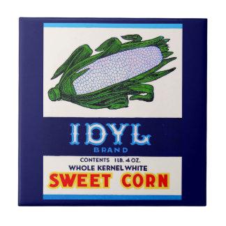 1930s Idyl Sweet Corn label Tile