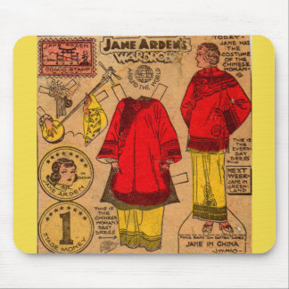 1930s Jane Arden paper doll Chinese clothes Mouse Pad