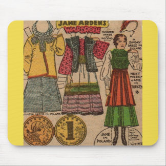 1930s Jane Arden paper doll Polish clothing Mouse Pad