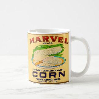 1930s Marvel canned corn label Coffee Mug