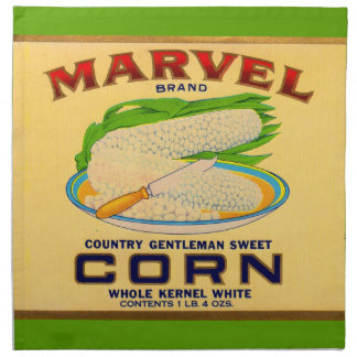 1930s Marvel canned corn label Napkin
