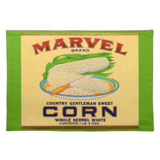 1930s Marvel canned corn label Placemat