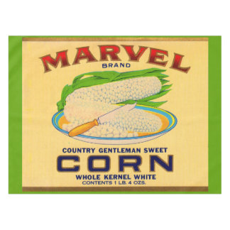 1930s Marvel canned corn label Tablecloth