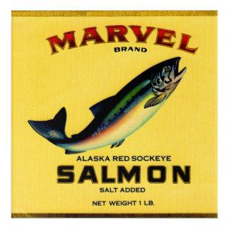1930s Marvel salmon can label Acrylic Print