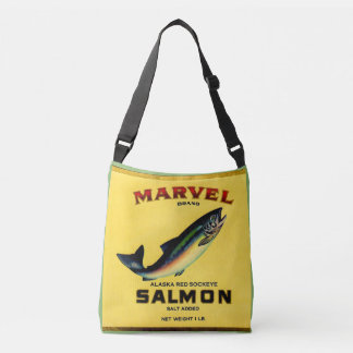 1930s Marvel salmon can label Crossbody Bag