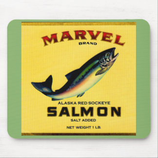 1930s Marvel salmon can label Mouse Pad