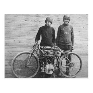 1930's Motorcycle Racer Postcard