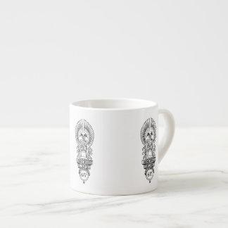 1930s Oviatt Building logo espresso cup