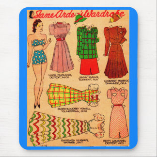 1930s paper doll Jane Arden and six outfits Mouse Pad