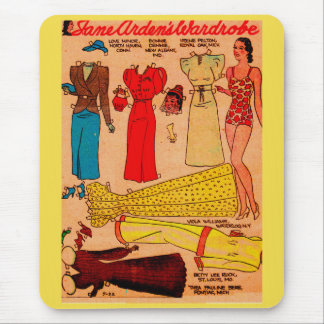 1930s paper doll Jane Arden four lovely outfits Mouse Pad
