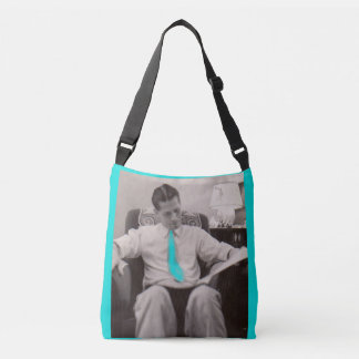 1930s reading the paper crossbody bag