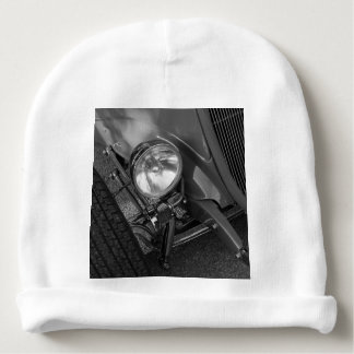 1930's Roadster Grayscale Baby Beanie