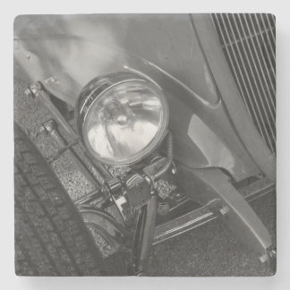 1930's Roadster Grayscale Stone Coaster