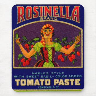 1930s Rosinella tomato paste can label no. 2 Mouse Pad
