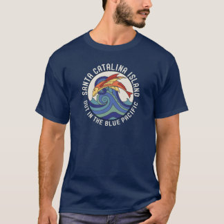1930s Santa Catalina Island Flying Fish Tile T-Shirt