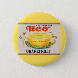1930s Uco Brand Grapefruit label 6 Cm Round Badge