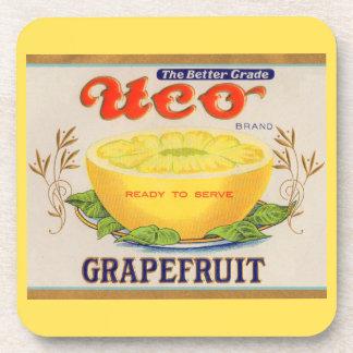 1930s Uco Brand Grapefruit label Coaster